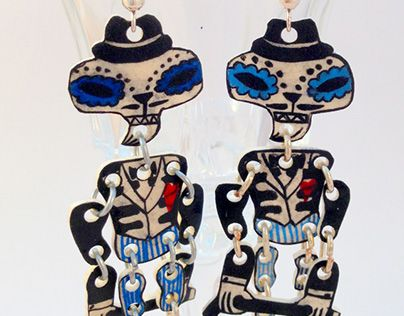 "Check out new work on my @Behance portfolio: ""Handpainted earrings dance-skeletons"" http://be.net/gallery/31999773/Handpainted-earrings-dance-skeletons"