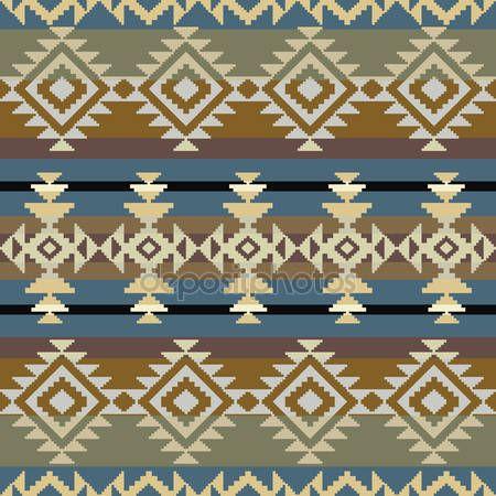 Herunterladen - Nahtlose Navajo Muster — Stockillustration #25908387