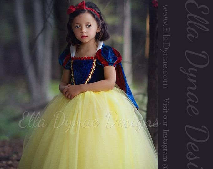 Snow White Costume Princess Gown Tutu Dress