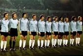 Sport Football Friendly International in Frankfurt West Germany v Scotland West Germany lineup lr Franz Beckenbauer Sepp Maier Bernd Cullman Georg...