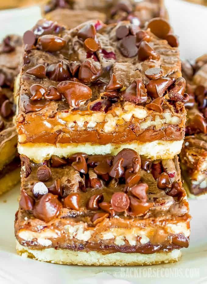 Chocolate Pecan Pie Magic Bars