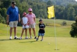 """Hey Kids, come and challenge Mum and Dad these school holidays on the """"Kids course"""" at Pacific Dunes. All players enjoy aqua coloured tees and the course details have been officially uploaded and scorecards are available to be printed for all participants! Exclusive offer for Easter school holidays = 1 child plays free when playing with 1 paying adult."""