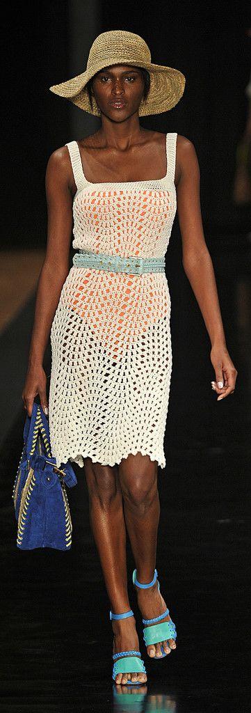 Carlos Miele at Rio Fashion Summer 2012 - Crochet Dress