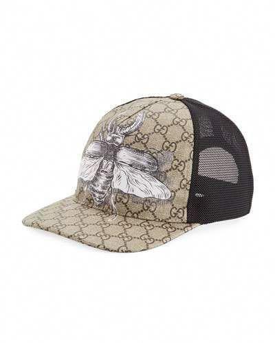 0b28c239b17 Gucci Insects Print GG Supreme Baseball Hat  baseballhats