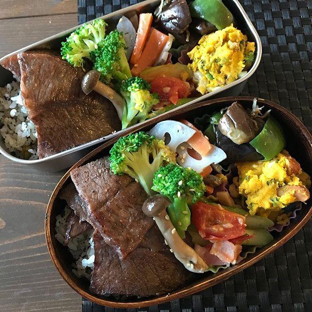 今日のお弁当。 彩りは鮮やかに、シンプルなお弁当。今日は旦那さんの誕生日なので、大好きなお肉にしました☺️ ・ #お弁当 #お弁当記録 #おべんとう #おべんとう記録 #作り置きおかず #作り置き #つくりおき #ランチ #旦那弁当 #いしこめし #わっぱ弁当 #アルミ弁当 #曲げわっぱ #曲げわっぱ弁当 #肉 #牛肉