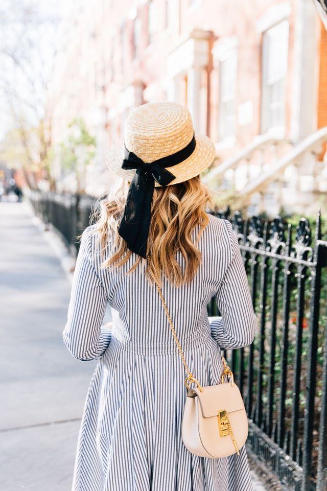 Hat: Old, Similar at Nordstrom   Dress: Eliza J via Nordstrom   Bag: Chloe via Nordstrom   Shoes: Marc Fisher via Nordstrom{similar here}   Sunglasses: Celine, Similar at Nordstrom   Bracelet: Nordst