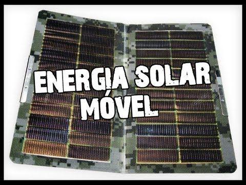 Energia solar móvel - Mochila com carregador solar -1.