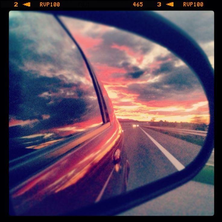 Traveling at the sunrise!