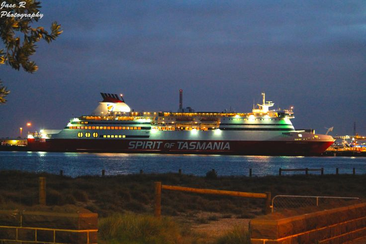 Spirit of Tasmania sits at Port Melbourne Pier wating to depart for another journey across Bass Strait June 2014