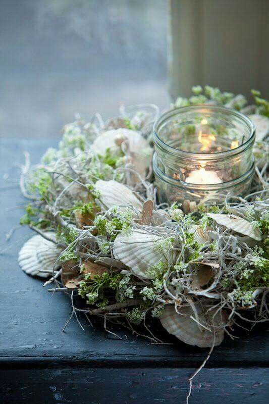 Try something like this with purple mussel shells