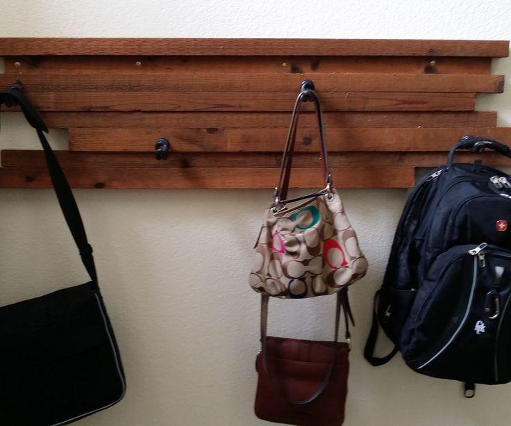 Scrap Wood Coat/backpack Hanger