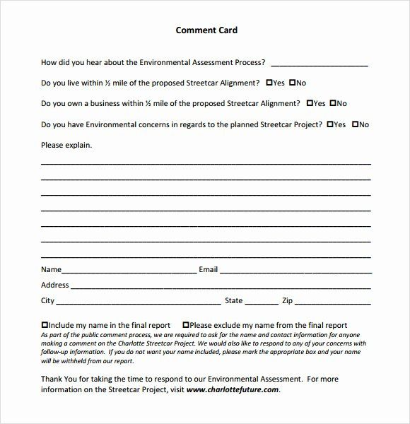 Comment Card Template Word Awesome Ment Card Template 9 Download Free Documents In Free Business Card Templates Business Card Template Design Id Card Template