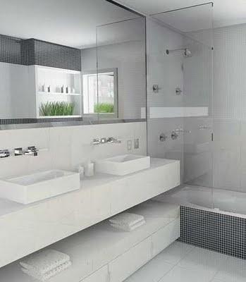 Dream bathroom. So crisp and clean.