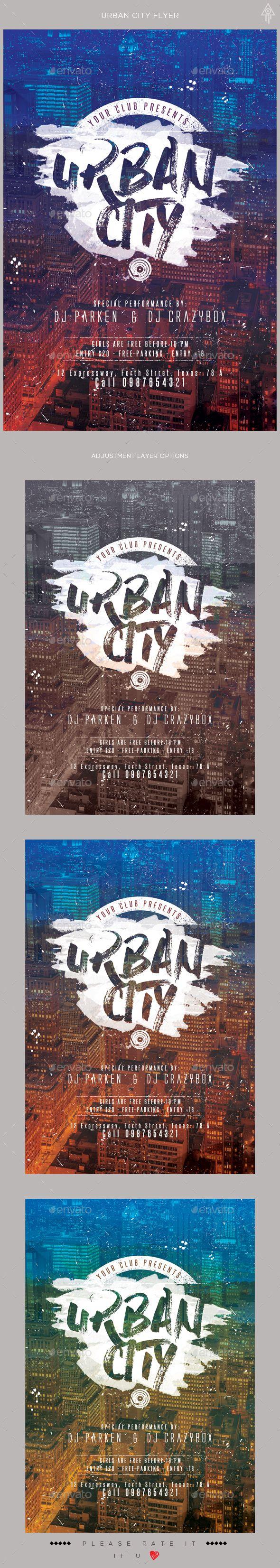 Urban City Flyer Template PSD. Download here: https://graphicriver.net/item/urban-city-flyer/17112392?ref=ksioks