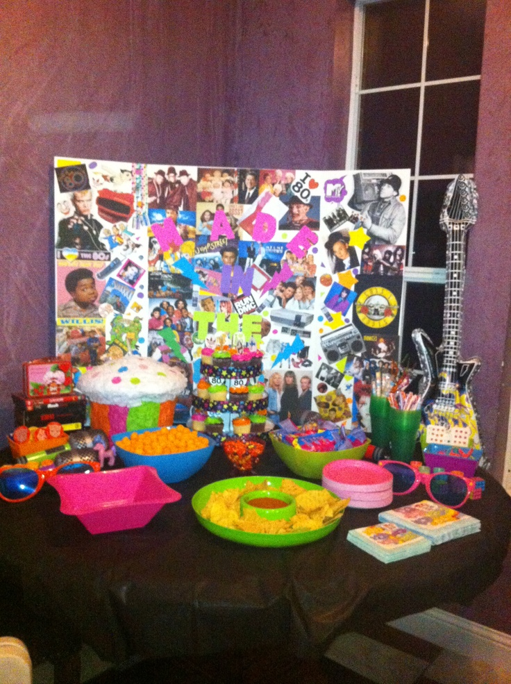 98 best images about 80 39 s theme party on pinterest 80s for 1980s party decoration ideas