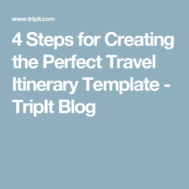 The  Best Travel Itinerary Template Ideas On   Travel