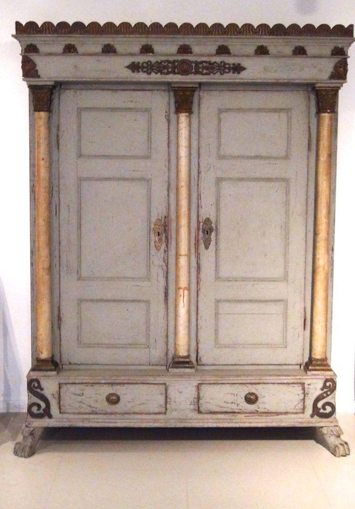 Scandinavian two doors wardrobe, apx. 1820. http://www.selected-antiques.dk/12321-2a--------scandinavian-two-doors-wardrobe-apx-1820