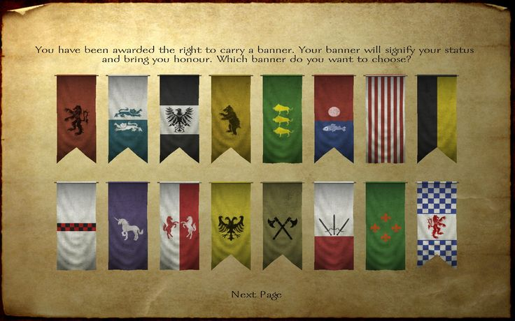 mount and blade flags