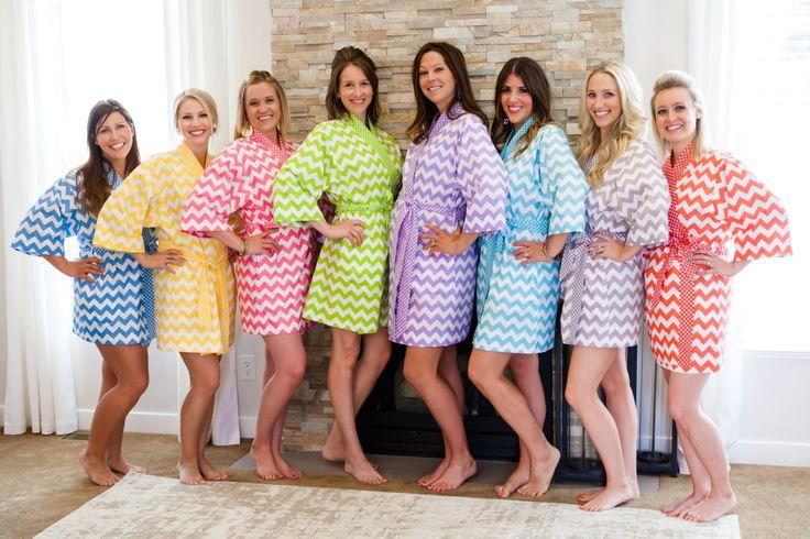 3 Bridesmaid Robes  Knee length  Kimono Robe  by KimonoRobeJSues, $180.00