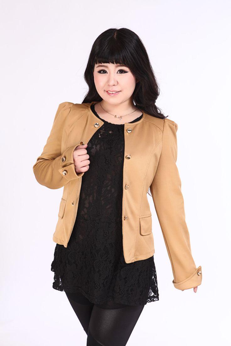 可定做胸围140 150韩版大码女装长袖小西装显瘦蝴蝶结春秋短外套-淘宝网