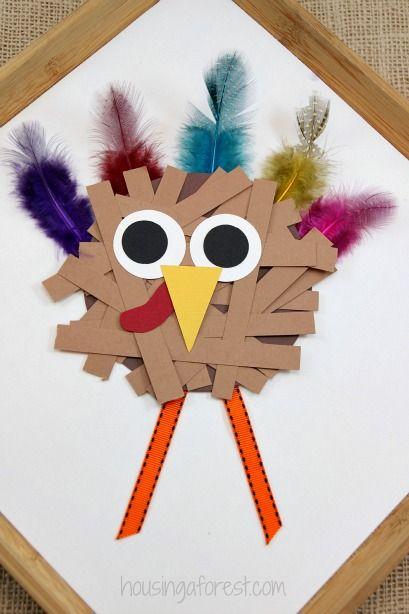 Thanksgiving Crafts for kids ~ Paper Strip Turkey