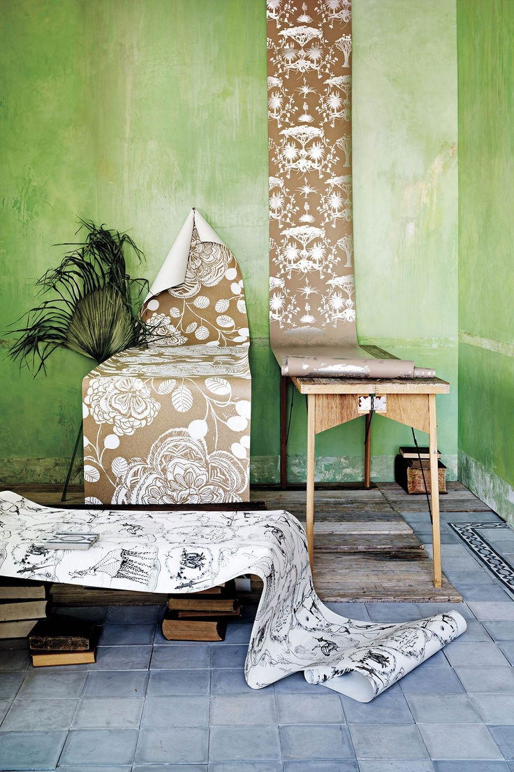 Anthropologie home decor wallpaper anthropologie for Anthropologie mural