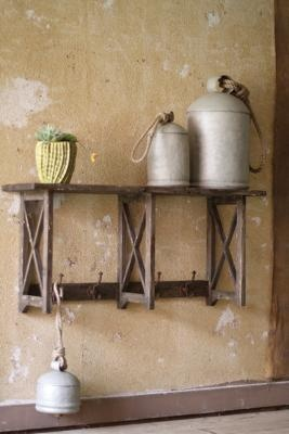 Gorgeous rustic shelf