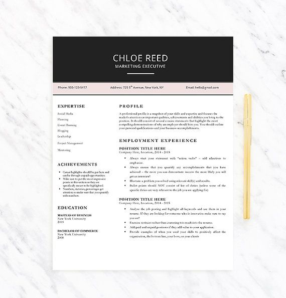 modern professional resume template for word by careerresumesinc - Modern Professional Resume Template