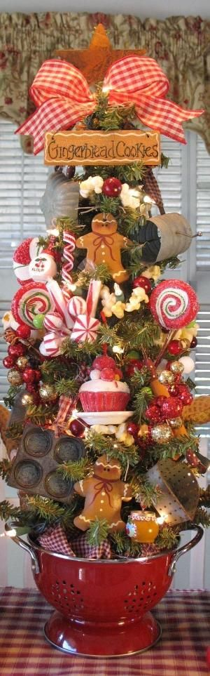 Run, run as fast as you can. You can't catch the Gingerbread Man! - Prim Gingerbread Men & Sweets Kitchen Tree by sarahx