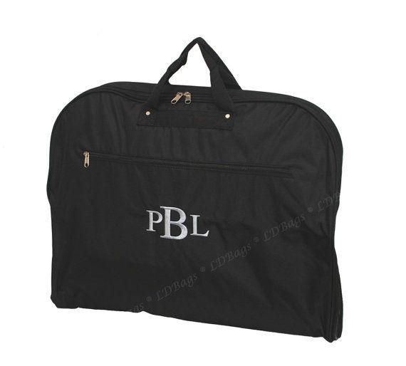 Black Garment Bag Groomsmens Gift Men's Garment by MonogramExpress