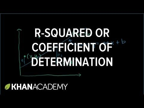 (1) R-squared or coefficient of determination | Linear regression and correlation | Regression | Probability and statistics | Khan Academy