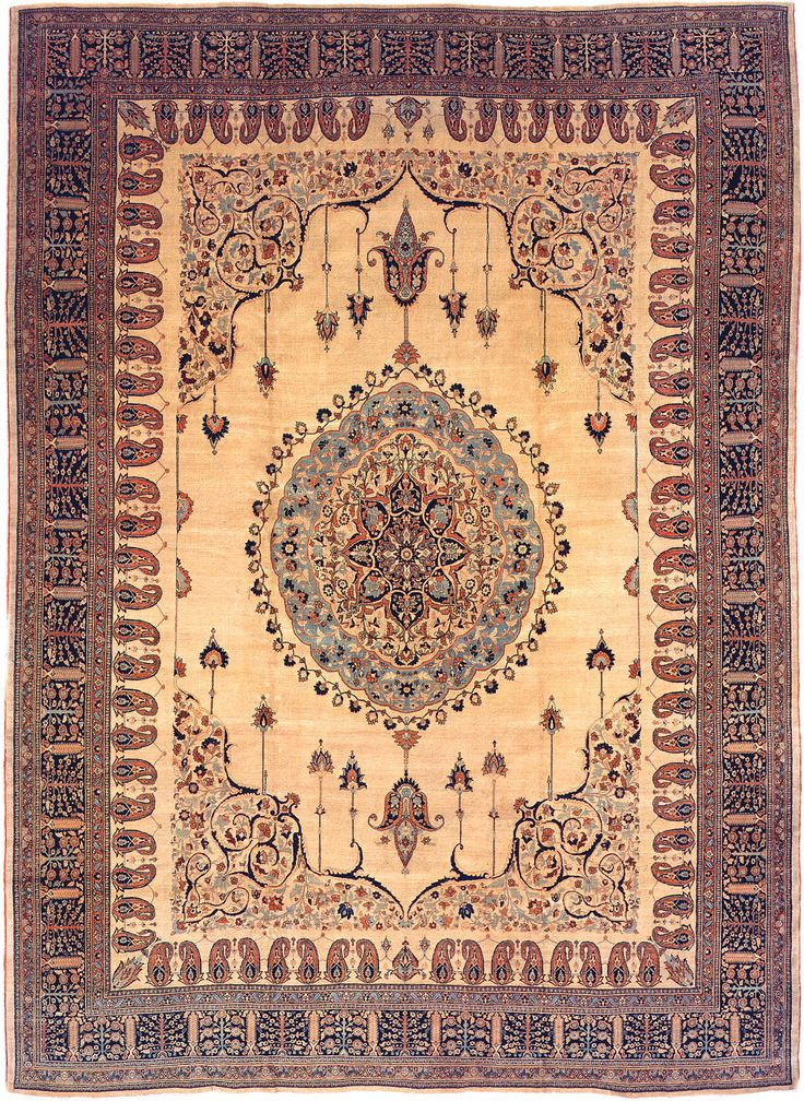 Antique Tabriz Persian Rug 3209 Main Image - By Nazmiyal