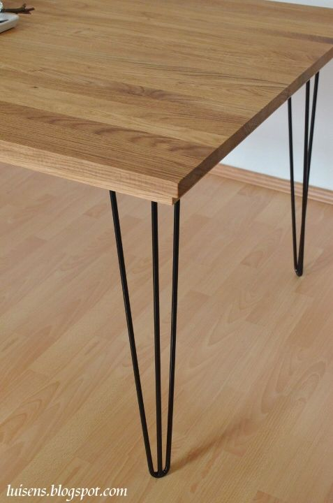 hairpin legs stahl tischbeine metall esstisch bauen diy hairpinlegs eiche holz tisch. Black Bedroom Furniture Sets. Home Design Ideas