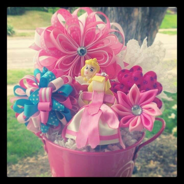 $35 Sleeping Beauty Inspired Themed Bow-quets. All hair clips can be worn alone or on the included headband that comes with each bow-quet. Visit www.facebook.com/bowquets . Customized for you:) All proceeds goes towards medical expenses for my twin boys:) Please read our story on why i started Bow-Quets. Never give a boring gift again:D