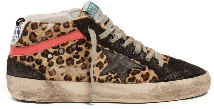 Golden Goose Deluxe Brand Mid Star leopard print calf hair