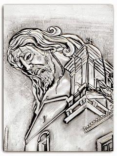 ArteyMetal: Placa Cristo de la Buena Muerte -Detalle-  Ayamont...