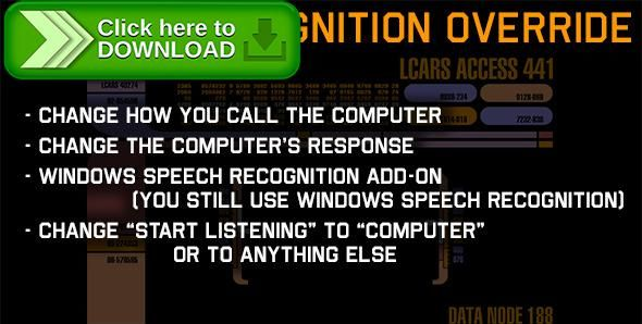 [ThemeForest]Free nulled download Windows Speech Recognition Override Add-on from http://zippyfile.download/f.php?id=57493 Tags: ecommerce, add computer response, ai, change default behavior, change start listening, eureka, Jarvis, speech recognition, speech recognition star trek, speech recognizer, speech settings, star trek, start listening, voice command, voice response, windows speech recognition