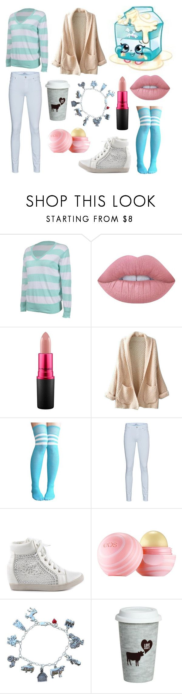 """""""Shopkins 6"""" by theultimatefashionlover on Polyvore featuring mode, Shopkins, Forever Lily, Lime Crime, MAC Cosmetics, WithChic, 7 For All Mankind, Lauren Lorraine, Eos en Fitz & Floyd"""