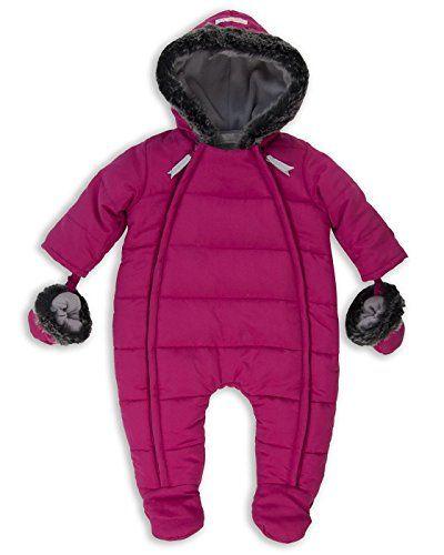 082bcabeb The Essential One - Baby Girls' Fur Trimmed Snowsuit Pram Pink ...