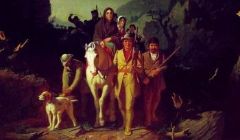 Daniel Boone Escorting Settlers through the Cumberland Gap by George Caleb Bingham