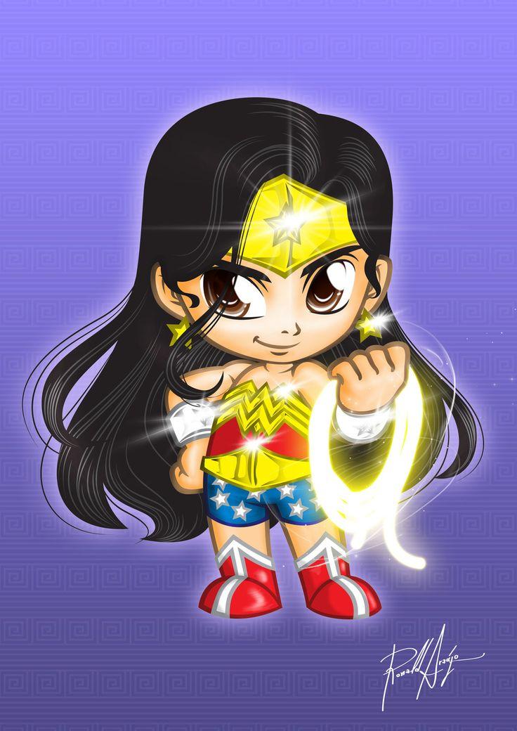 Chibi Wonder Woman by utherdrake