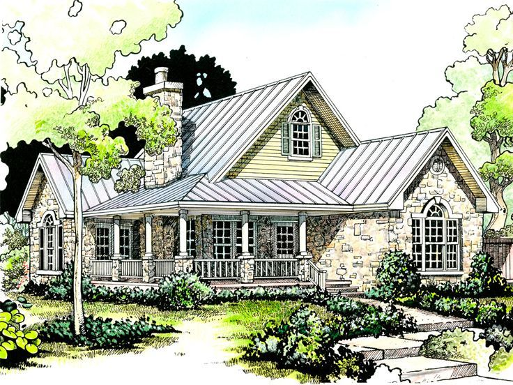 1000 images about house plans on pinterest log cabin for Bungalow house plans with wrap around porch