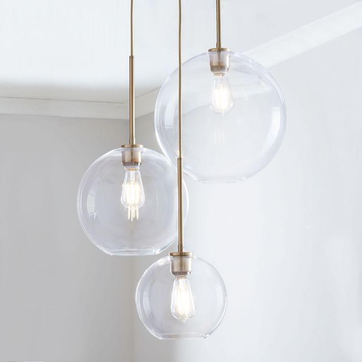 Sculptural Glass 3 Light Globe Chandelier Clear In 2020 Globe Chandelier Glass Globe Chandelier Glass Lighting