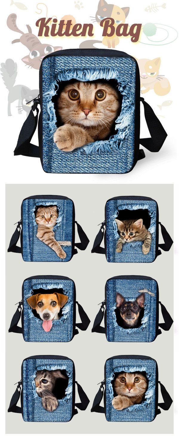 Cat Dog Cute Bags for You! Have Something Funny Today. $15.27 & Freeshipping.