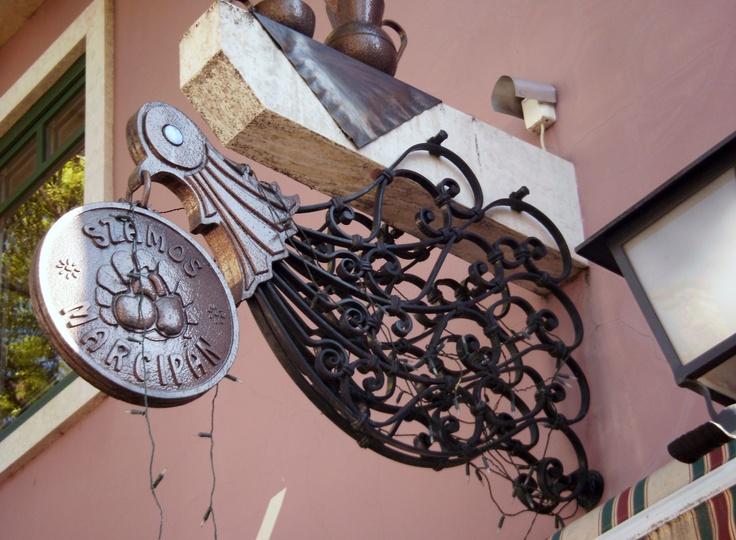Marzipan shop sign in Szentendre, Hungary