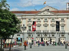 Plaza de Santa Ana, teatro. Madrid España
