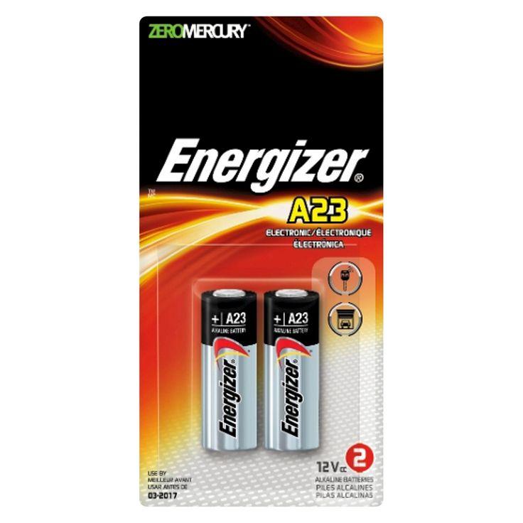 Energizer Alkaline A23 Batteries 2 Count (A23BPZ-2)