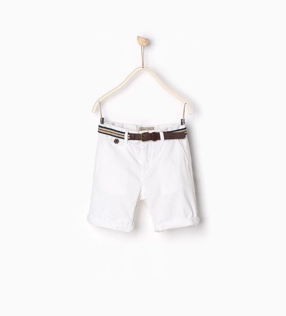 ZARA - KIDS - Belted Bermuda shorts