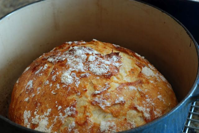 """from another pinner: I've pinned this before, but I'm repinning it now that I have made it - This is insanely easy - it literally took 2 minutes to stir together the dough - let it sit overnight and then bake.  It is beyond easy and so delicious.  Nice and crusty on the outside and chewy on the inside.  I cannot say enough.  I think I'm going to have to start making this on the daily."": Lecreuset, No Knead Breads, Dutch Ovens, Artisan Bread, Breads Recipes, Crucible, Sit Overnight, Crusti Breads, Homemade Breads"