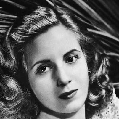 """Evita """"Eva"""" Peron - Women's Rights Activist and Political Leader.  She used her position as first lady of Argentina to fight for causes she believed in, such as women's suffrage and improving the lives of the poor. She also ran the ministries of health and labor in her husband's (Juan Peron) government."""